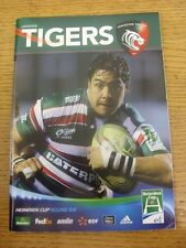 21/01/2012 Rugby Union programme: Leicester V Aironi Rugby [Heineken Cup]. Tout