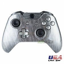 Full Housing Shell Button for Xbox One Controller W/3.5 mm Jack Brushed Silver