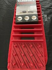 Cuisinart Drying Mat With Rack Red. B New