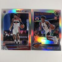 2019-20 NBA Hoops Premium Stock Rui Hacimura Silver RC & Silver Tribute RC WIZ