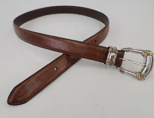 Fossil Leather Belt BT768120002 Distressed Brown Medium 32