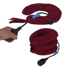 Pro Air Inflatable Pump Neck Pillow Traction Device Pain Relief Collar Brace