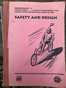 Velomobile / HPV Safety And Design 1994 Future Bike Publication. Human vehicle