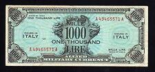 1000 AM Lire Occup. Americana Italia 1943A (Bilingue) SPL