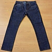 Admiral Admirably British Mens Selvedge Button Fly Blue Jeans Size 36R