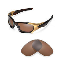 New Walleva Polarized Brown Replacement Lenses For Oakley PIT BOSS II