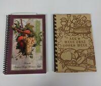 Fundraiser Spiral Bound Cookbooks Community Vintage Modern - Lot of 2