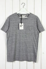 Patternless Lee Cotton Crew Neck T-Shirts for Men