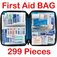299 Pcs First Aid Energency Kit Camping Sport Travel Car Home Medical Bag #OW
