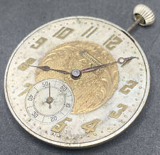 Maurer Pocket Watch Movement Vintage 6j Swiss 40 Mm Parts repair F2855