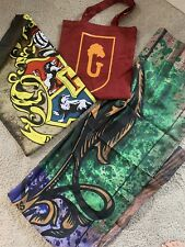 Harry Potter Fan Lot Photo Backdrop Hogwarts Flag Banner Cursed Child Tote