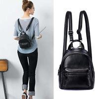 Convertible Small Mini Genuine Leather Backpack Rucksack Shoulder Bag Purse Cute