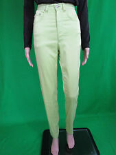VERSACE Woman New Sexy High Waist Casual Design Green Lux Trousers sz IT 24 AN97