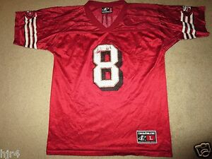 Steve Young #8 San Francisco 49ers NFL Football Jersey Youth LG 14-16 Womens