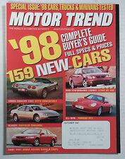 MOTOR TREND CAR MAGAZINE 1997 OCTOBER CORVETTE PORSCHE 911 GS400 ACCORD