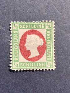 1873 Heligoland ,1/4sch, Mich 8F Scott#8