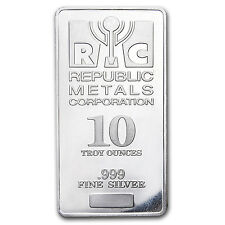 10 oz Silver Bar - Republic Metals Corp. (RMC) - SKU #89181