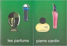 ▬► PUBLICITÉ ADVERTISING AD Parfum Perfume CARDIN Énigme bleu choc rose 2p 1993