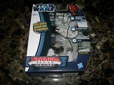 Star Wars Titanium Series DieCast 3-pack SNOWSPEEDER MILLENNIUM FALCON AT-AT