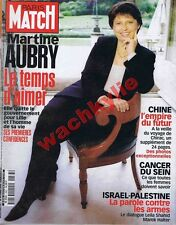 Paris Match 2683 - 26/10/2000 Martine Aubry Chine Helmut Newton Israël Palestine