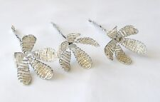 Beaded Crystal Silver Lily picks x 3 pcs