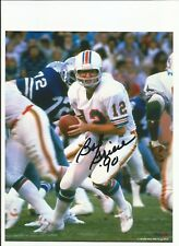 Miami Dolphins Bob Griese Autographed 8x10 with COA NICE