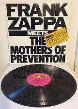 Frank Zappa Meets The Mothers Of Prevention US 1985 LP with Catalog Insert NM