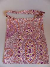 PRIMARK Leinen Tasche Jutebeutel Stoffbeutel Shopper Paisley rosé orange NEU