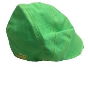 Puma Men's Green Cyclist Round Cloth Cycling Biking Cap Hat Size Small Medium