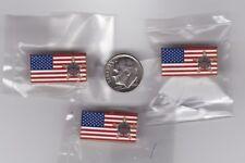 US Secret Service Lapel Hat Pin American Flag 3-Pack