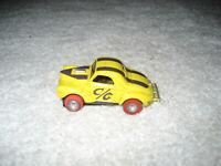 Vintage HO Aurora Thunderjet Tjet yellow/purple willys grasser slot car working