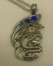 Jewelry Dragon Silver Plated Pewter Eastgate Fire And Ice Fantasy Necklace