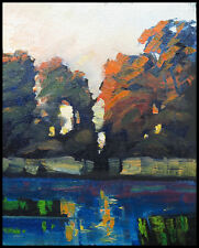 HAWKINS  Impressionist Original Landscape Tonalist Study Oil Painting Art Signed