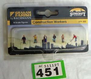 G451 Graham Farish 379-302 Construction Workers (6 figures N gauge)