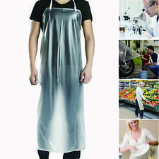 "47""x28"" Clear Waterproof Apron Pvc Unisex for Cooking Restaurant Kitchen Chef"