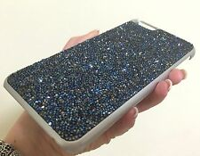 Blue AB Silver Rock Made with Swarovski Crystals Bling Case Cover iPhone 6 Plus