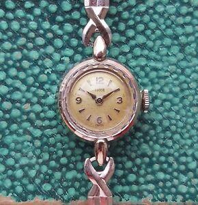 Vintage Tudor 9ct solid white gold watch ladies vintage by Rolex