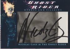 Nicholas Cage authentic custom cut cert autograph auto card GA COA