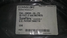 Lot of 3 COMMSCOPE SureFlex F4A-DMDR-25-PX 25 FT/Two F4DR-C DIN Male Right Angle