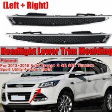 2x LH+RH Headlight Headlamp Lower Trim Moulding For Ford Escape 4Door 2013-2016