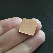 100pcs Thick Copper Hearsinks Cooling Copper Pad Shim laptop CPU 15*15*1mm