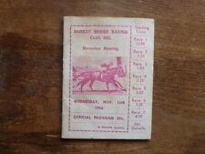1966 MURRAY BRIDGE RACING CLUB MEET PROGRAMME NOV 16th