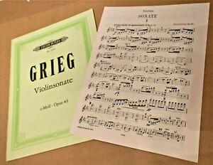 Sonate Nr. 3 c-Moll op. 45 von Edvard Grieg für Violine und Klavier