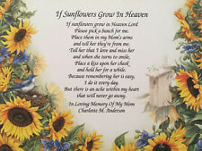 Memory of Mom Sympathy Gifts Memorial Day Sunflower Grow in Heaven Loss Mother