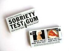 Sobriety Test Gum Blue Q Funny Gag Gift Novelty Peppermint Flavor