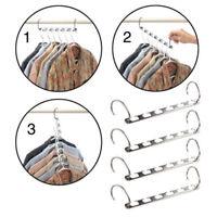 1/2x Wonder Closet Organizer Space Saver Magic Hanger Clothing Rack Clothes Hook