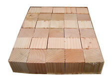 30 Wood Blocks 2-inch Solid Unfinished Cubes Rough-Cut Not Sanded