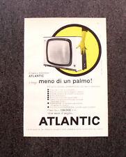 M116- Advertising Pubblicità -1960- ATLANTIC TELEVISORE , LARGO MENO DI UN PALMO