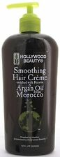 HOLLYWOOD BEAUTY SMOOTHING HAIR CREME KERATIN & ARGAN OIL 12 OZ.
