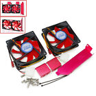Dual 90mm Fan Rack Mount PCI Slot Bracket VGA Video Card PC CASE System Cooling
